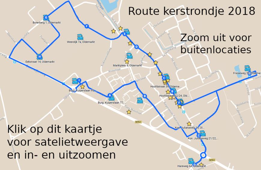 Route kerstrondje 2018